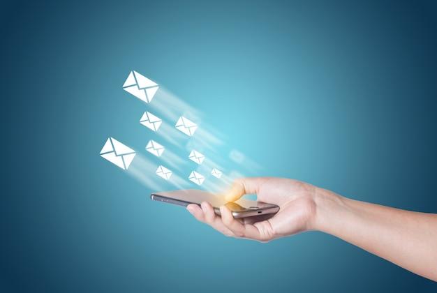 Bewegen messaging elektronischen boten-upload
