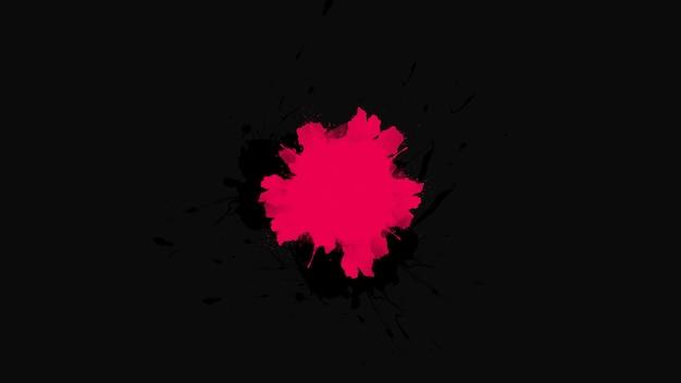 Bewegung abstrakter roter fleck und spritzer, bunter grunge-hintergrund. eleganter und luxuriöser 3d-illustrationsstil für hipster- und aquarellvorlagen