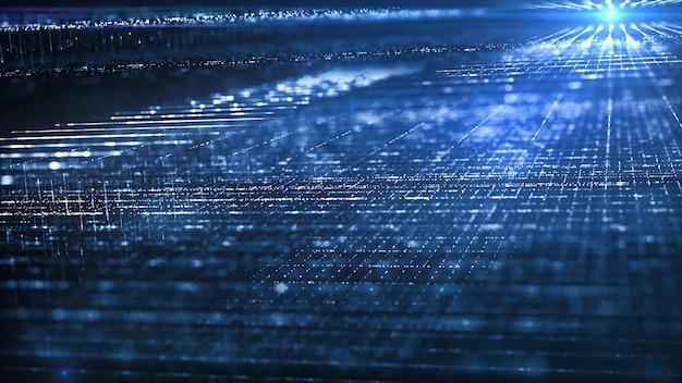 Bewegung des digitalen datenflusses.
