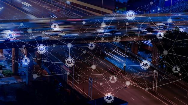 Bewegung von menschen in london als netzwerk & hr