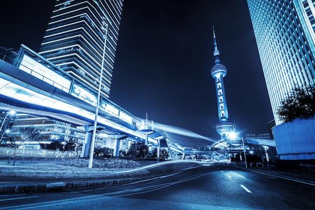 Bewegungsgeschwindigkeitseffekt mit city night