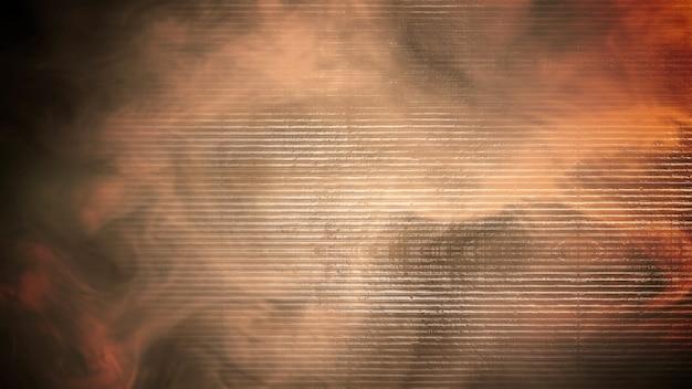 Bewegungsrauch auf filmischem hintergrund mit grunge-textur. luxuriöse und elegante 3d-darstellung des kinothemas