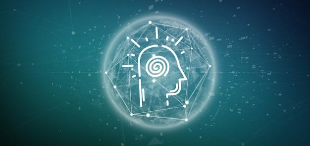 Bewusstes kopf-symbol