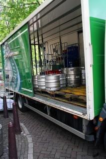 Bier in anhänger