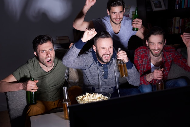 Bier, popcorn und viel spaß