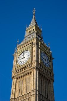 Big ben und parlamentsgebäude in london england, großbritannien