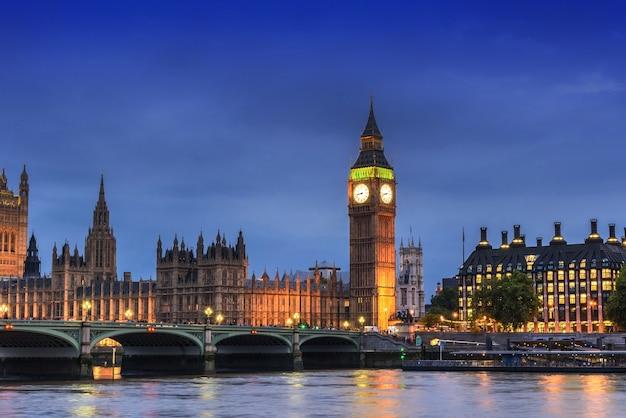 Big ben und parlamentsgebäude, london