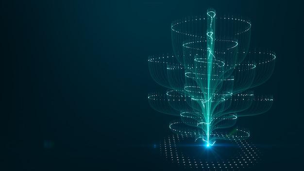 Big data-hintergrundkonzept der abstrakten technologie. bewegung des digitalen datenflusses.