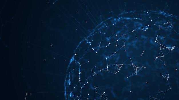Big data network und iot-konzept.
