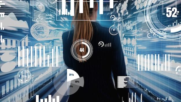Big data-technologie für business finance konzeptionell.