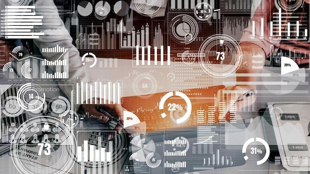 Big data-technologie für business finance konzeptionell. Premium Fotos