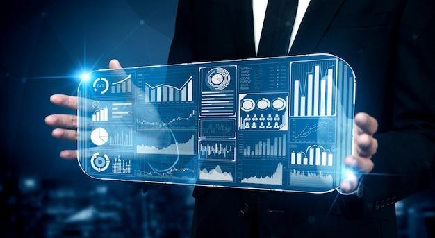 Big-data-technologie für das business finance-analysekonzept.