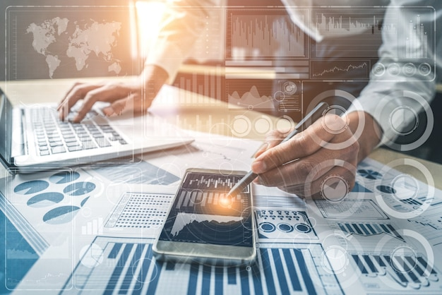 Big-data-technologie für das business finance-analysekonzept