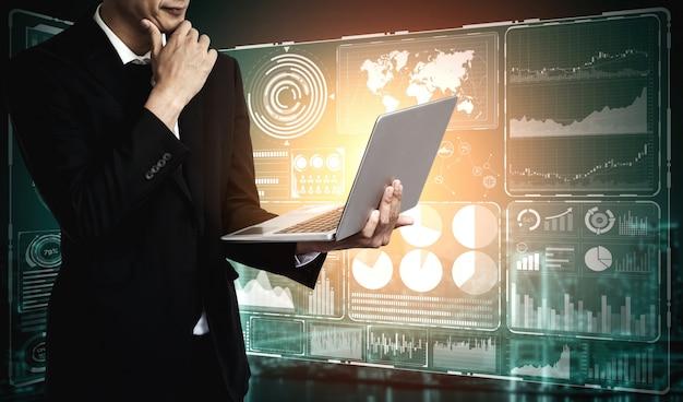 Big data-technologie für das business finance-konzept.