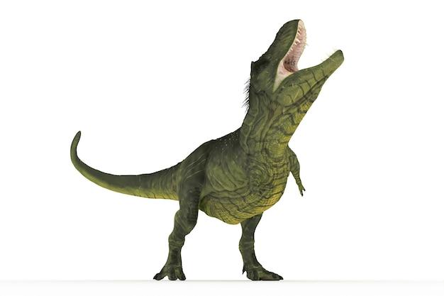 Big tyrannosaurus satz winkel 3d-illustration