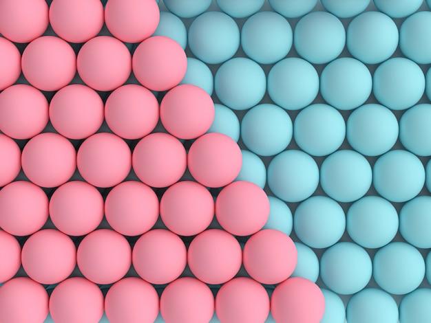 Bild 3d übertragen von den blauen und rosa kugeln