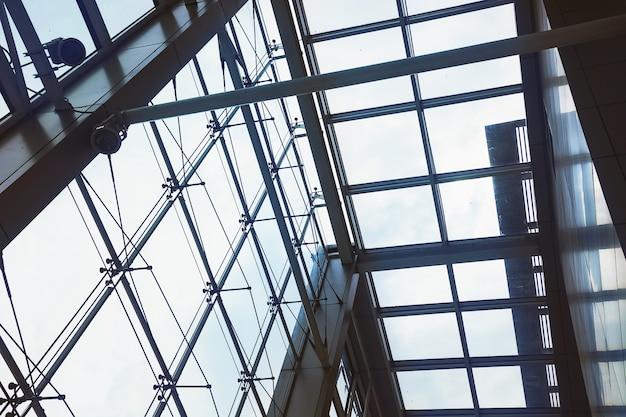 Bild der reflexions-glaswand in morden-bürogebäude