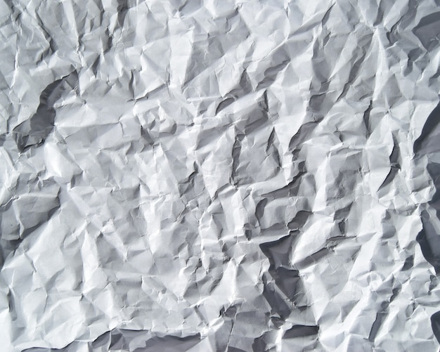 Bild der zerknitterten papierstruktur, die direkt oder als weißer hintergrund verwendet werden kann