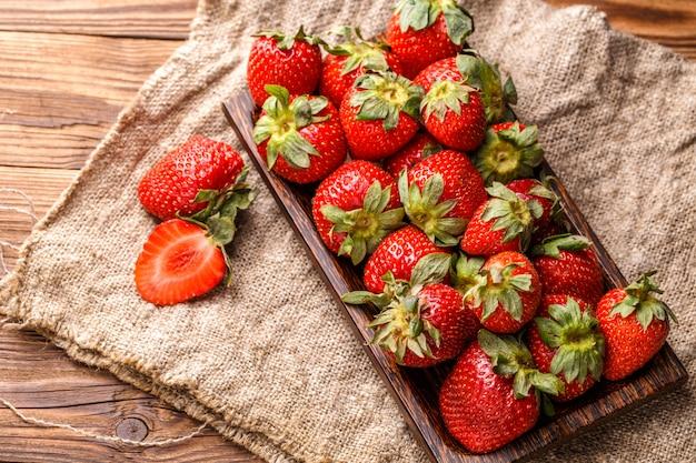 Bild oben auf erdbeere