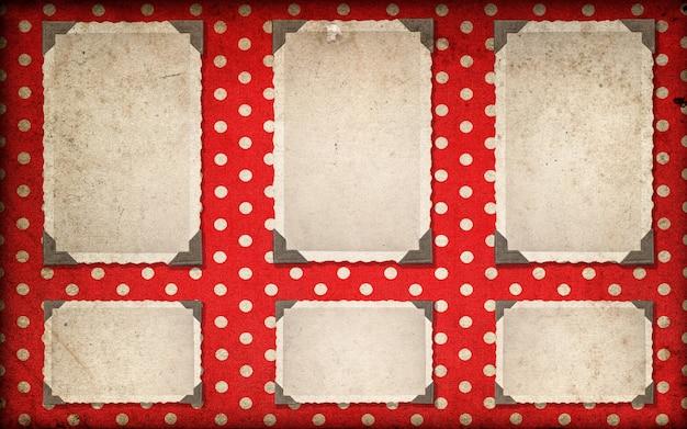 Bilderrahmen mit ecke. dunkle fotoalbumseite im retro-stil. mock-up für dein foto, bild, bild