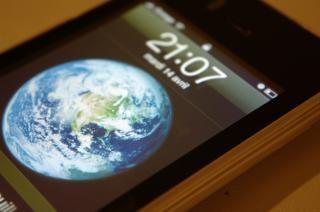 Bildschirm eines iphones, technologie