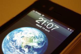 Bildschirm eines iphones