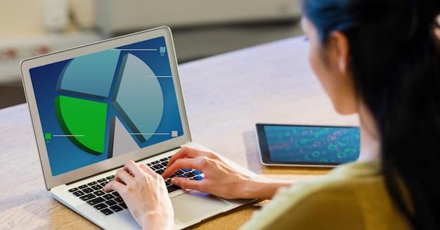Bildschirm tech-schreibtisch-chart bureau