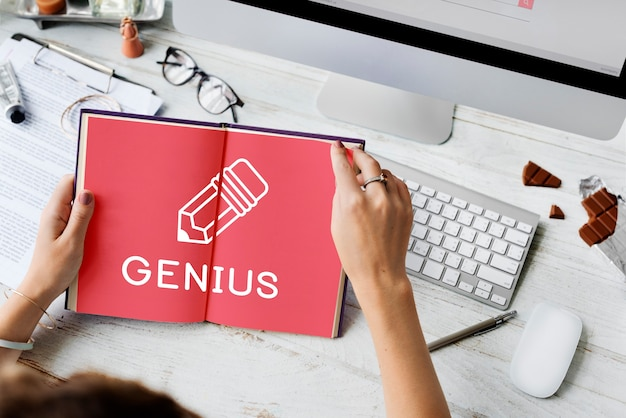 Bildung college-lernwissen genius-konzept