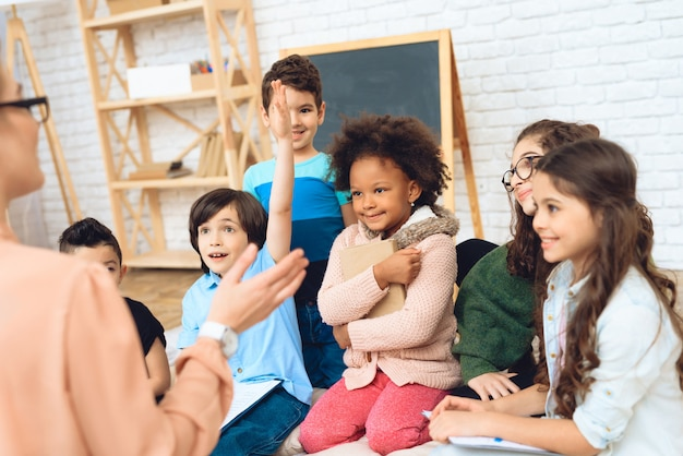 Bildung von kindern in der grundschule.
