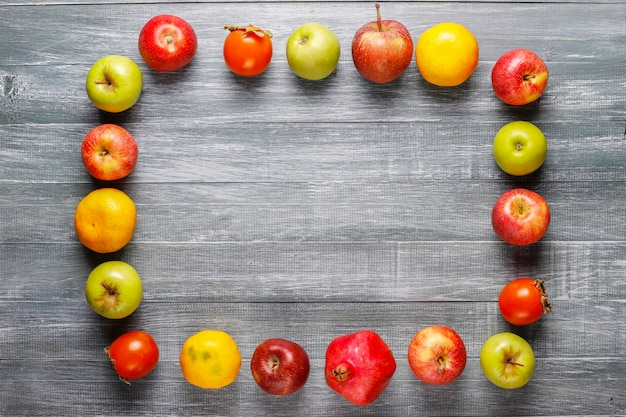 Bio-herbstfrüchte.