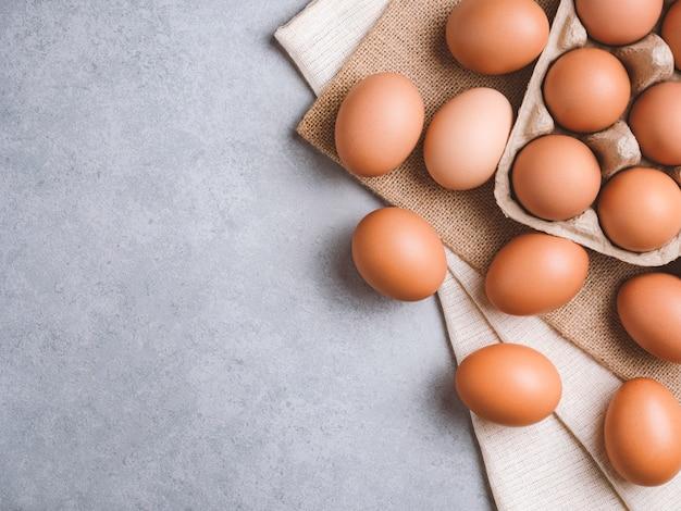 Bio hühnerei lebensmittelzutaten