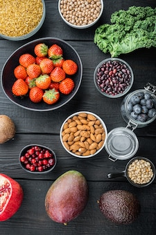 Bio-lebensmittel für gesunde ernährung und superfoods