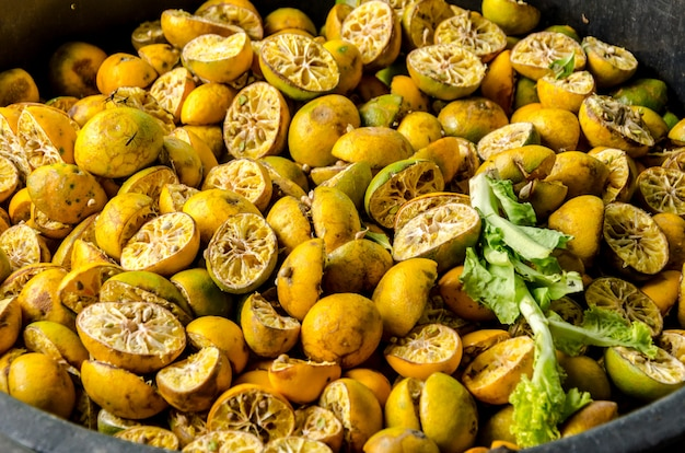 Bioabfälle vom frischmarkt