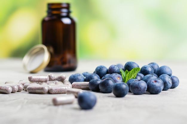 Biologisch aktive ergänzung - pillen für gesunde augen