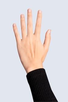 Biometrische sicherheitstechnologie mit palm-scan-gesten