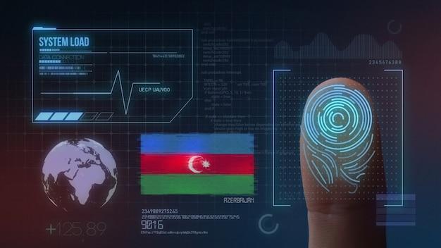 Biometrisches fingerabdruckscanner-identifikationssystem. aserbaidschanische nationalität