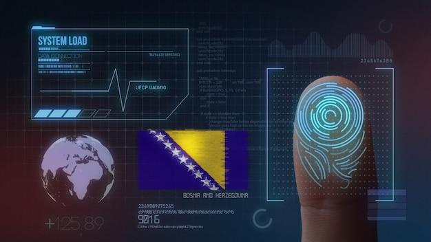 Biometrisches fingerabdruckscanner-identifikationssystem. bosnien und herzegowina nationalität