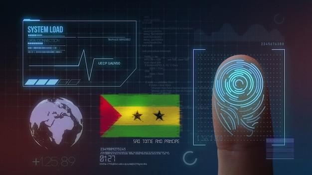 Biometrisches fingerabdruckscanner-identifikationssystem. são tomé und príncipe nationalität