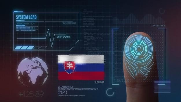 Biometrisches fingerabdruckscanner-identifikationssystem. slowakei nationalität