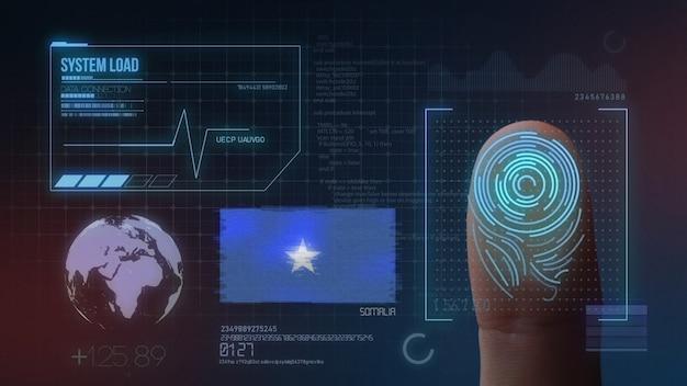 Biometrisches fingerabdruckscanner-identifikationssystem. somalia nationalität