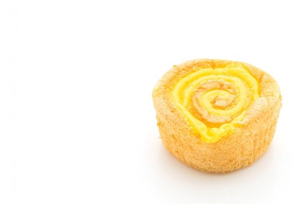 Biskuitkuchen mit puddingmarmelade