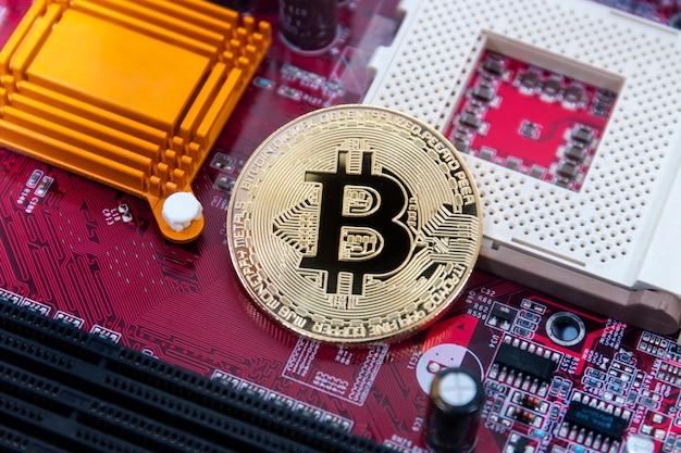Bitcoin auf der platine