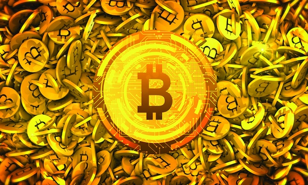 Bitcoin cryptocurrency-hintergrund