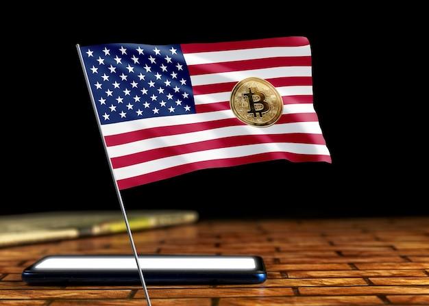 Bitcoin egypt auf der flagge ägyptens. bitcoin-nachrichten und rechtslage im ägyptischen konzept.