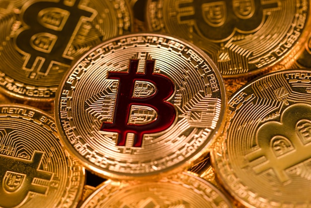 Bitcoin goldmünze.