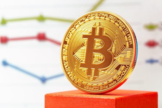Bitcoin-kryptowährungsdiagramm