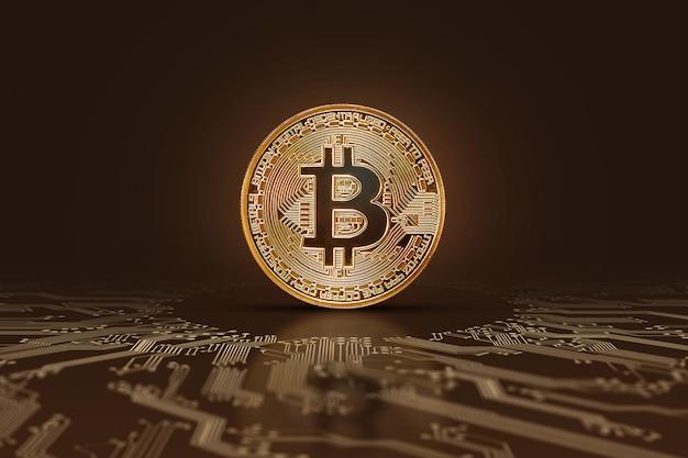 Bitcoin-münze elektronisches geld, kryptowährung.