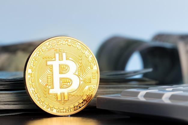 Bitcoin-münzen-krypotowährung die zukunft des geldes