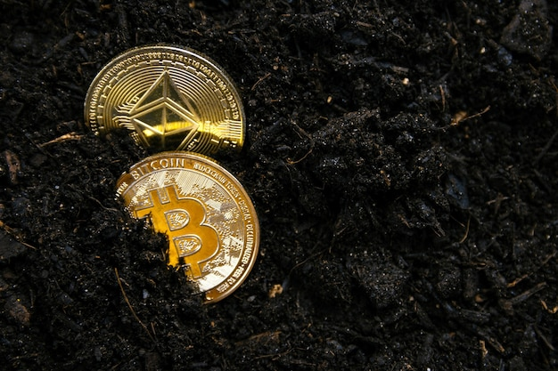 Bitcoin und ethereum kämpfen um die führung im bergbau von kryptowährungen
