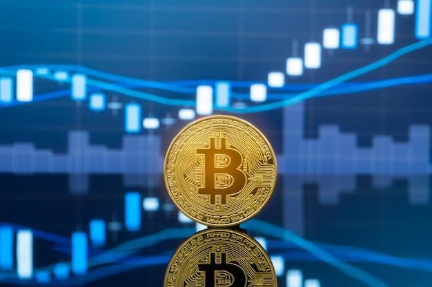 Bitcoin und kryptowährung, die konzept investieren.